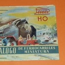 Trenes Escala: CUATRO CATÀLOGOS DE TRENES DE PAYA, ESCALA H0 , 0 Y CONSTRUCCIONES.. Lote 272927068