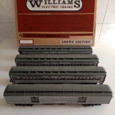 Trenes Escala: VAGONES TRENES WILLIAMS ELECTRIC TRAINS 4 CAR SCALE MADISON SET CROWN EDITION. Lote 276395758