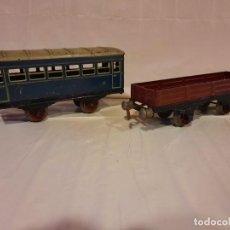 Trenes Escala: RICO 2 VAGONES ESCALA 0 ESTILO PAYA. Lote 284657388