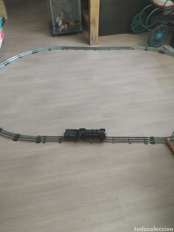 CIRCUITO 0 CON LOCOMOTORA Y TENDER FRANCESA SNCF (Juguetes - Trenes Escala 0)