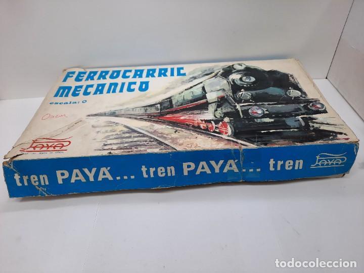 Trenes Escala: PAYÁ TREN FERROCARRIL MECANICO ESCALA 0 CON 2 LOCOMOTORAS Y 4 VAGONES PAYA - Foto 14 - 288886788