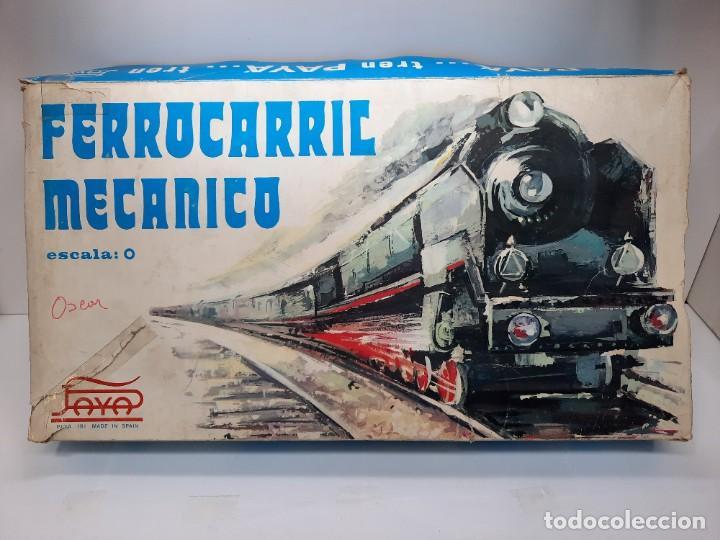 Trenes Escala: PAYÁ TREN FERROCARRIL MECANICO ESCALA 0 CON 2 LOCOMOTORAS Y 4 VAGONES PAYA - Foto 18 - 288886788