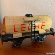 Trenes Escala: ELECTROTREN ESCALA 0 VAGON CISTERNA LECHE. Lote 293718538