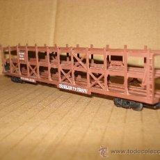Trenes Escala: VAGON AMERICANO 4 EJES A BOGIES TRANSPORTE DE AUTOMOVILES SOUTHERN PACIFIC ESCALA *N* DE ARNOLD .. Lote 25269759