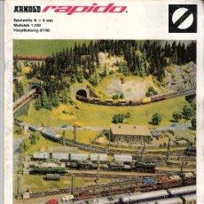 Trenes Escala: ARNOLD RAPIDO. CATÁLOGO TRENES. CALIBRE N = 9MM. ESCALA = 1:160. CATÁLOGO PRINCIPAL 67 /68. ALEMAN.. Lote 28032486