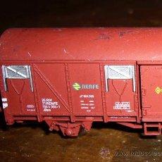 Trenes Escala: VAGON DE CARGA O MERCANCIAS, RENFE, FABRICADO POR ARNOLD, ESCALA N, RENFE. Lote 30083770