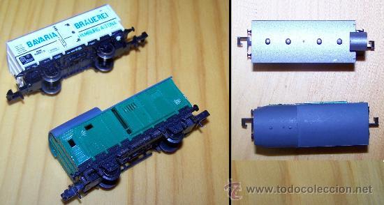Trenes Escala: VAGONES ARNOLD Y TRIX ESCALA N. FURGON Y CERRADO CON GARITA. - Foto 2 - 36315593