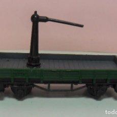 Trenes Escala: ARNOLD N - VAGÓN ABIERTO APOYO DE GRÚA. Lote 69938757