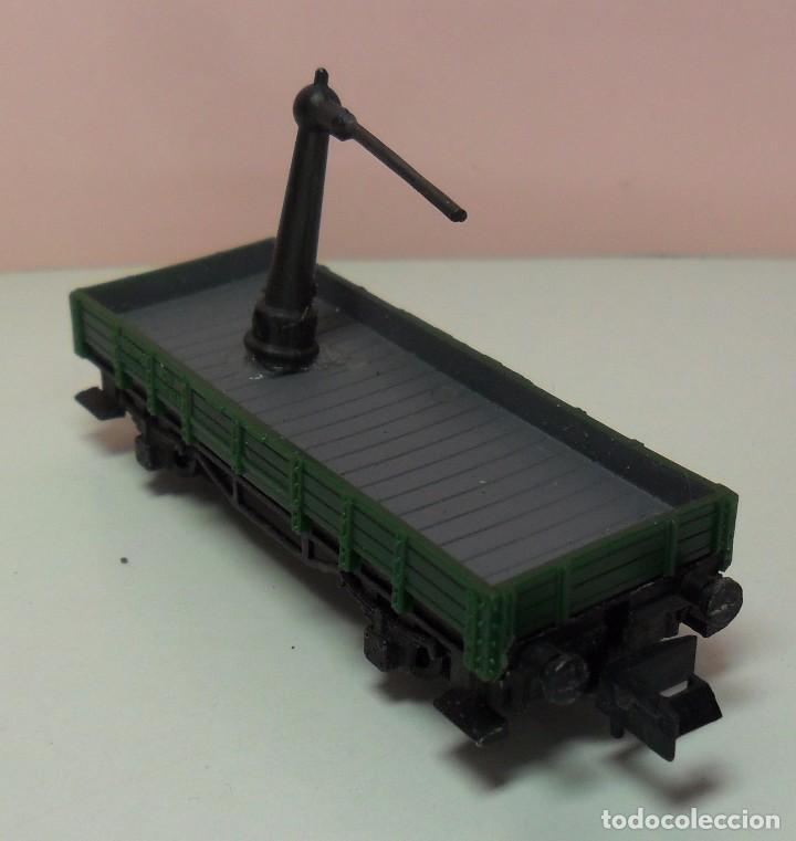 Trenes Escala: ARNOLD N - Vagón abierto apoyo de grúa - Foto 2 - 69938757