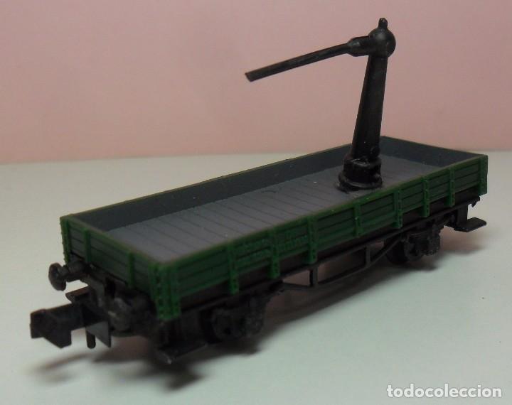Trenes Escala: ARNOLD N - Vagón abierto apoyo de grúa - Foto 3 - 69938757