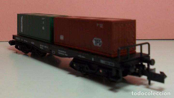 Trenes Escala: ARNOLD N - 4954 - Vagón de DG contenedores de TFG y JEURO - Con caja original - Foto 3 - 71133661