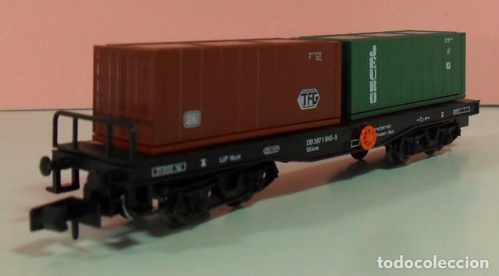 Trenes Escala: ARNOLD N - 4954 - Vagón de DG contenedores de TFG y JEURO - Con caja original - Foto 4 - 71133661