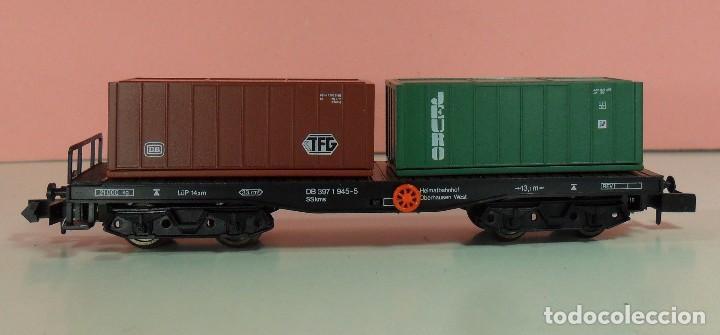 Trenes Escala: ARNOLD N - 4954 - Vagón de DG contenedores de TFG y JEURO - Con caja original - Foto 5 - 71133661