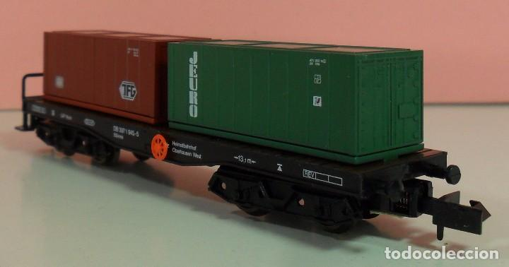 Trenes Escala: ARNOLD N - 4954 - Vagón de DG contenedores de TFG y JEURO - Con caja original - Foto 6 - 71133661