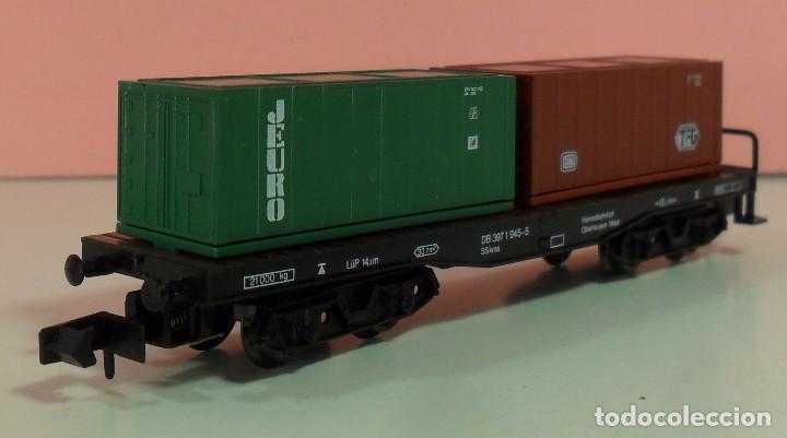 Trenes Escala: ARNOLD N - 4954 - Vagón de DG contenedores de TFG y JEURO - Con caja original - Foto 7 - 71133661