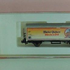 Trenes Escala: ARNOLD N - VAGÓN PARA TRANSPORTE DE CERVEZA HACKER-PSCHORR MUNCHNER HELL. Lote 76184007