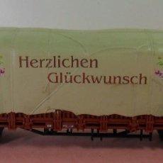 Trenes Escala: ARNOLD N - 4462 - VAGÓN CON TOLDO HERZLICHEN GLÜCKWUNSCH. Lote 77954437