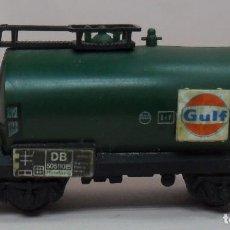 Trenes Escala: ARNOLD N - VAGÓN CISTERNA GULF. Lote 86565732