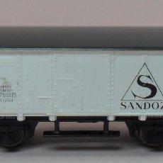 Trains Échelle: ARNOLD N - VAGÓN DE MERCANCÍAS SANDOZ. Lote 86568208