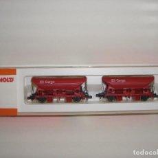 Trenes Escala: ARNOLD N 2 VAGONETAS CARGO CON ARENA 0346 (CON COMPRA DE 5 LOTES O MAS ENVÍO GRATIS). Lote 86651820