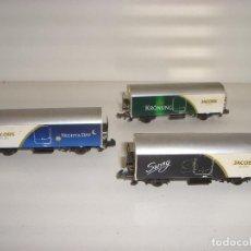 Trenes Escala: ARNOLD N 3 VAGONES CERRADOS CAFETEROS (CON COMPRA DE 5 LOTES O MAS ENVÍO GRATIS). Lote 87351604