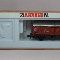 Trenes Escala: ARNOLD N - REF. 4402 - VAGÓN CERRADO DE MERCANCÍAS - CAJA ORIGINAL. Lote 89625108