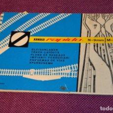 Trenes Escala: LIBRO DE ESQUEMAS DE VÍAS - ARNOLD RAPIDO - ESCALA N = 9MM / M = 1:160 - ESCALA N - HAZ OFERTA. Lote 107451971