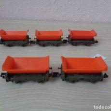 Trenes Escala: ARNOLD LOTE DE 5 TOLVAS DE MINERAL ESCALA N. Lote 117194667