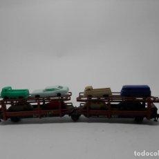 Trenes Escala: VAGÓN PORTACOCHES ESCALA N DE ARNOLD . Lote 118623527