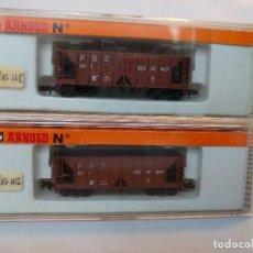 Trenes Escala: ARNOLD 4483 X2, VAGONES TOLVA DE MERCANCÍAS ESCALA N. Lote 123179223