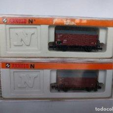 Trenes Escala: ARNOLD 4411 X2, VAGONES CERRADOS DE MERCANCÍAS ESCALA N. Lote 123221943