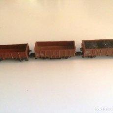 Trenes Escala: ARNOLD ESCALA N - CONVOY DE 3 VAGONES DE CARGA ABIERTOS . Lote 128891215