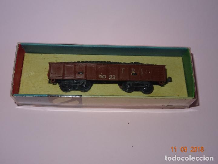 Trenes Escala: Antiguo Vagón Carga de Carbón 4 Ejes en Escala *N* de ARNOLD Año 1970s. - Foto 3 - 154698116