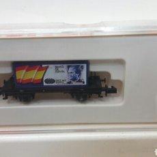 Trains Échelle: VAGON ARNOLD 4500-11 CONTENEDOR CON BILLETE DE 10.000 PESETAS.ENVIO INCLUIDO. Lote 133927607