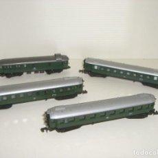 Trenes Escala: ARNOLD N COMPOSICIÓN 4 VAGONES 1ª 2ª 2ª Y EQUIPAJES (CON COMPRA DE CINCO LOTES O MAS ENVÍO GRATIS). Lote 135139146