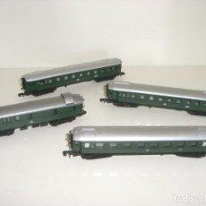 Trenes Escala: ARNOLD N COMPOSICIÓN 4 VAGONES 1ª 2ª 2ª Y EQUIPAJES (CON COMPRA DE CINCO LOTES O MAS ENVÍO GRATIS). Lote 135238782