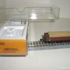 Trenes Escala: ARNOLD N BORDE MEDIO CARGA MADERA 0455 (CON COMPRA DE CINCO LOTES O MAS ENVÍO GRATIS). Lote 138601538