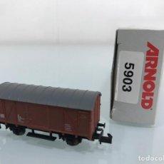 Trenes Escala: TREN, ARNOLD 5903,VAGÓN 2 EJES CERRADO, TIPO GNS , DB 40 500B 946 0774-5. Lote 143057146
