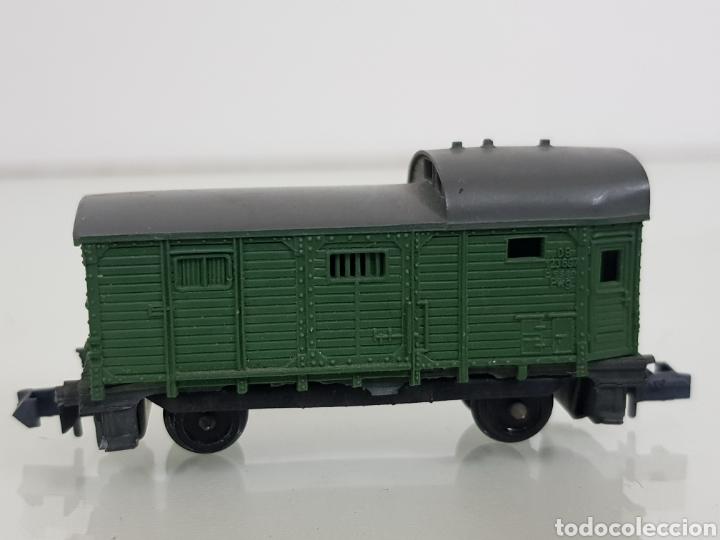 Trenes Escala: Arnold rapido vagón de mercancías escala N de 5 cm verde - Foto 2 - 144838520