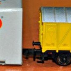 Trenes Escala: VAGÓN CERRADO AMARILLO RENFE PLATANOS DE CANARIAS DE ARNOLD, REF. 5913, ESCALA N. VÁLIDO IBERTREN.. Lote 151306818