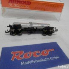 Trenes Escala: VAGÓN CISTERNA TRANFESA ESCALA N DE ROCO . Lote 156765802