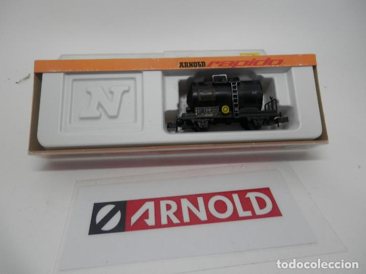 VAGÓN CISTERNA ESCALA N DE ARNOLD (Juguetes - Trenes a Escala N - Arnold N )