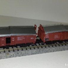 Trenes Escala: ARNOLD N 2 MERCANCÍAS CON TRAMPILLAS MOVIBLES 2 EJES (CON COMPRA DE 5 LOTES O MAS, ENVÍO GRATIS). Lote 173929107