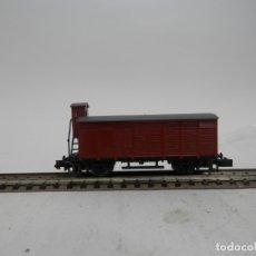 Trenes Escala: VAGÓN CERRADO CON GARITA ESCALA N DE ARNOLD . Lote 176249793