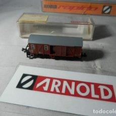 Trenes Escala: VAGÓN FURGON ESCALA N DE ARNOLD . Lote 190906698