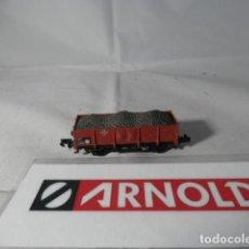 Trenes Escala: VAGÓN BORDE BAJO ESCALA N DE ARNOLD . Lote 191813547