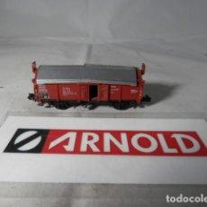 Trenes Escala: VAGÓN BORDE ALTO ESCALA N DE ARNOLD . Lote 192293486