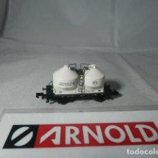 Trenes Escala: VAGÓN SILO ESCALA N DE ARNOLD . Lote 192375111