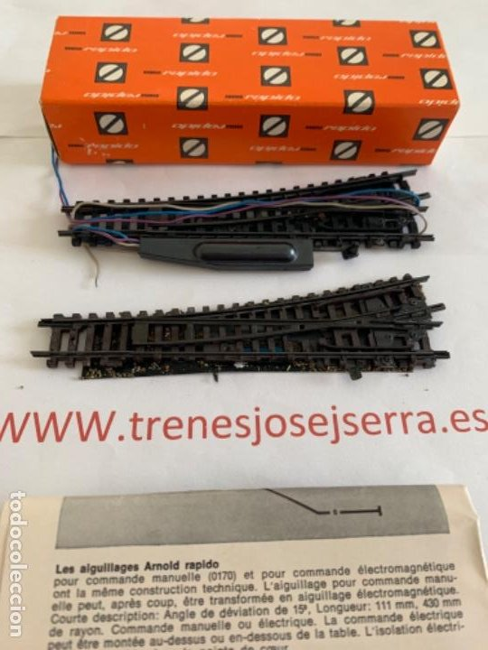 Trenes Escala: ARNOLD N. SEGUNDA MANO PAREJA UN IZQDA ELEC + UN IZQDA MAN - Foto 2 - 197611893