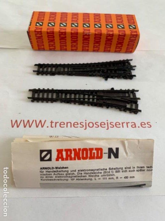 ARNOLD N. SEGUNDA MANO PAREJA DESVIOS MANUALES (Juguetes - Trenes a Escala N - Arnold N )